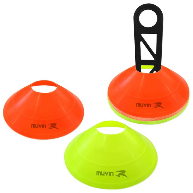 Half Cone de Marcação Amarelo Laranja Fluorescente Kit com 12