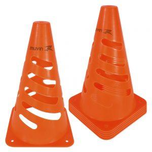 Cone de Marcação Flexível Laranja Fluorescente Kit com 6