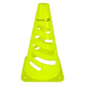 Cone de Marcação Flexível 24cm Amarelo Fluorescente